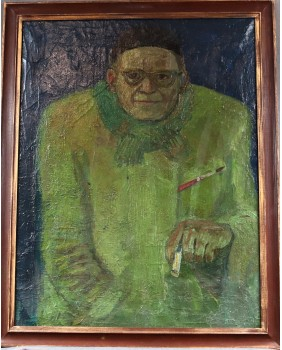 Autoportret malarza. Olej....